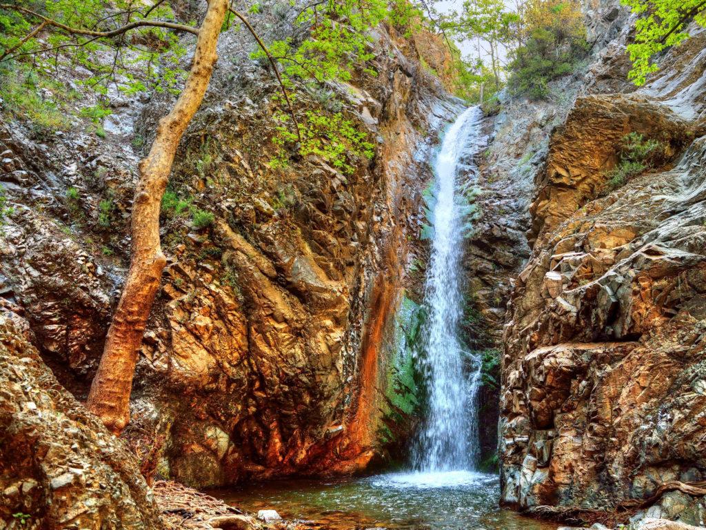 Водопад Милломерис, Кипр