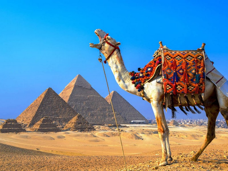 Где находится Египет - на карте мира. Пирамиды и долина царей