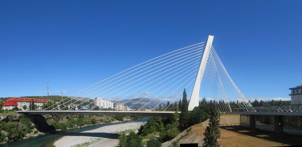 Мост Тысячелетия в центре Подгорицы