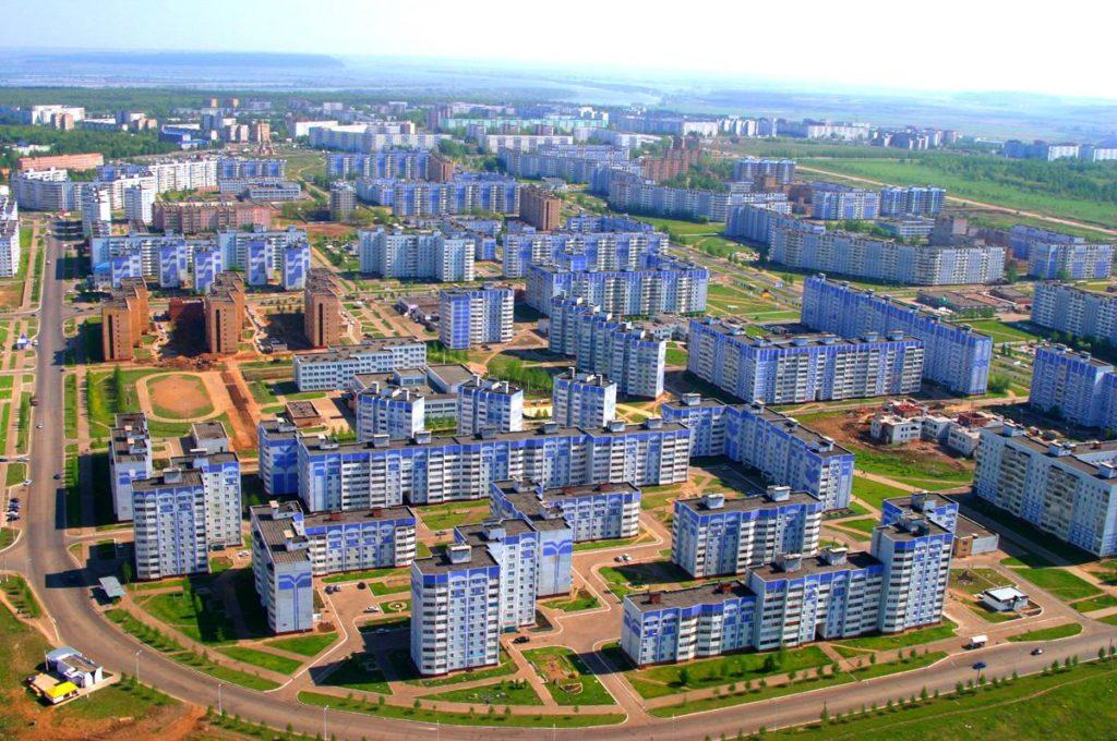 Где находится Нижнекамск - на карте России, город, какая область, фото